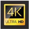 4K Ultra HD television logo