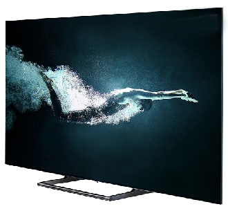 4K HDR TV on stand