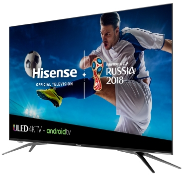 Hisense TV on stand