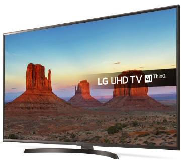 LG UHD TV on stand